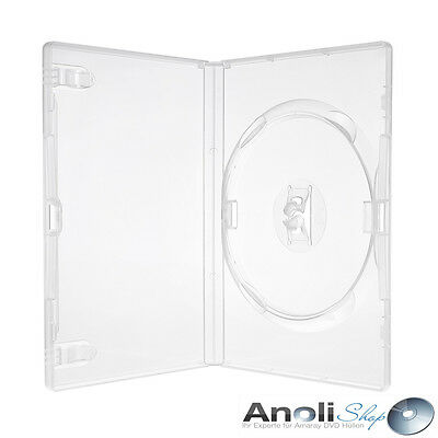 Amaray Hülle Transparent für 1 DVD,Blu Ray,CD 25 Hüllen Original Amaray