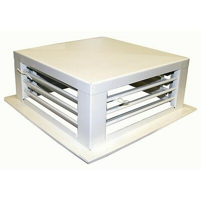 """Drop Down Evaporative Cooler Diffusers White Powder Coated 24""""x24""""x6"""" DF-24P"""