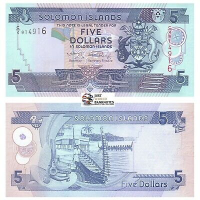 Solomon Islands 5 Dollars 2006 P-26 Mint UNC Uncirculated Banknotes