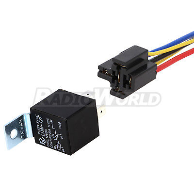 12V Automotive Changeover Relay 40A 5-Pin with Socket Holder