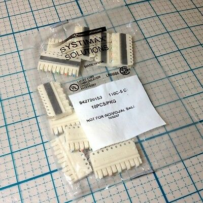 PACK OF 10 NEW SYSTIMAX 842720153 110 C-5 CLIP FOR 110 BLOCKS COMM SCOPE