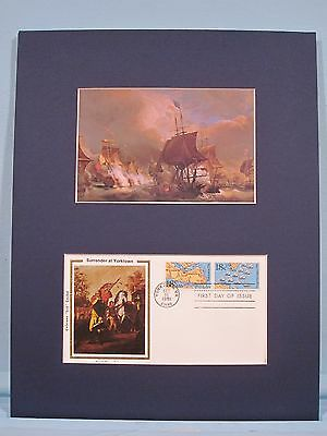 Yorktown - The French Fleet wins the Battle of Virginia Capes & First day Cover