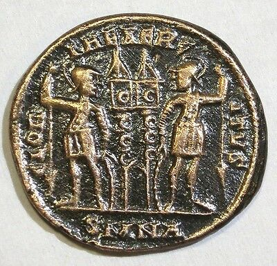 Ancient Roman Coin A3, Constantine I The Great 330AD Two Soldiers #R 825