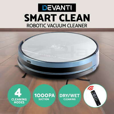 Automatic Robot Robotic Vacuum Cleaner Floor Sweeper Dry Wet Mopping Recharge