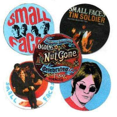 5 SMALL FACES  BADGES. Psychedelia, Mod, 60's pop.