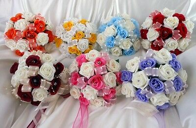 Bridesmaids posy bouquet with diamante Choose colours