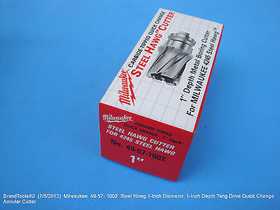 """Milwaukee 49-57-1002 Steel Hawg 1"""" Diam. Tang Drive Quick Change Annular Cutter"""