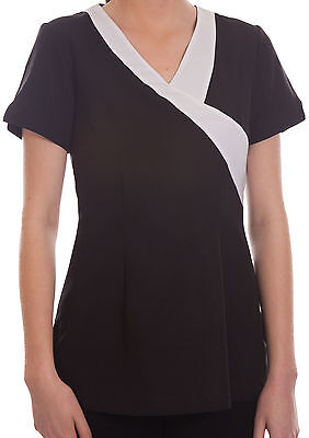 Sally Black Salon Spa Beauty Beautician Hairdressers Therapy Uniform Tunic Sally