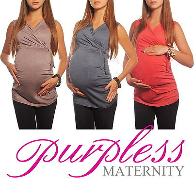 New MATERNITY V NECK TOP Pregnancy Clothing Wear Size 8 10 12 14 16 18 Tops 5104