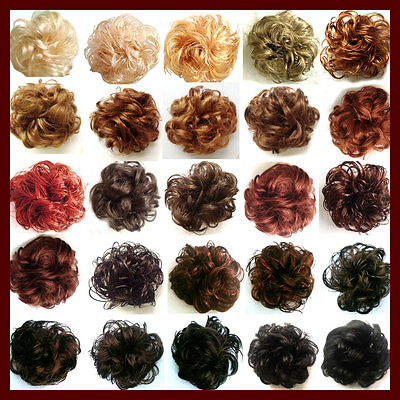 Hair Piece Wig Scrunchies Scrunchy for Bun or Pony Tail Brown Blonde UK Seller