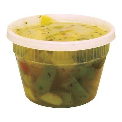 Pack of 10 Plastic Deli Food Container 16 oz DeliTainer with Lids