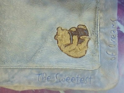 Classic Pooh Winnie The Pooh Blue Baby Boy Sweetess Of Dreams Baby Blanket GUC