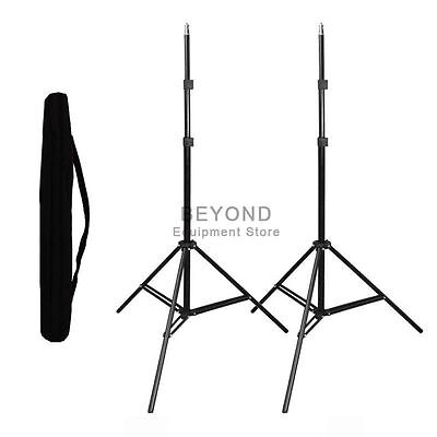 2x Photo Studio Adjustable Light Stand Soft Box Flash Continuous Lighting Tripod