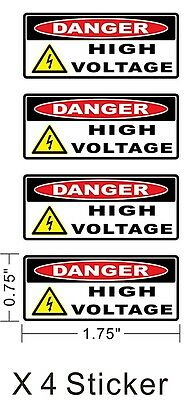 Danger High Voltage Electric Warning Safety Business Sign Decal Sticker X4 ~A191