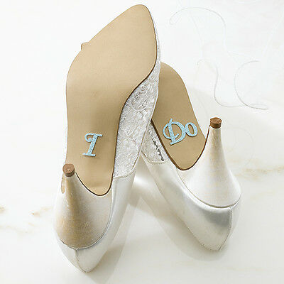 """REDUCED TO CLEAR~*~Something Blue~*~Fun Wedding """"I Do"""" Shoe Stickers~*~"""