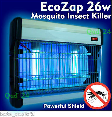 EcoZap 26w - Electric UV Mosquito Bug Zapper Fly Flying Insects Moth Killer Trap