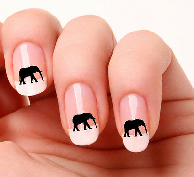 20 Nail Art Decals Transfers Stickers #311 - Elephant