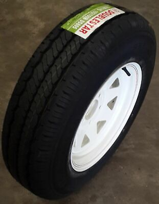 "14"" Sunraysia WHITE Rim - Holden HT pattern fitted with 185R14C Light-truck tyre"