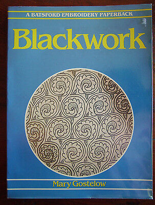 BLACKWORK by MARY GOSTELOW  Embroidery Sewing Crafts s/c book