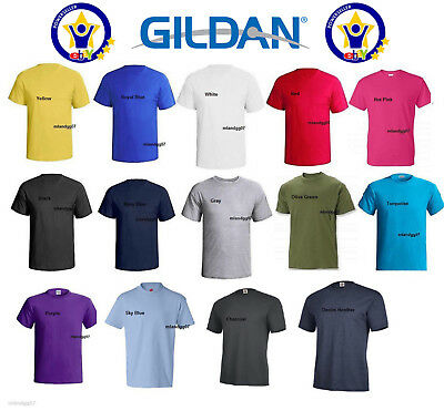 Mens T-shirt 100% Cotton Plain Short Sleeves Preshrunk Shirt First Quality S-5X