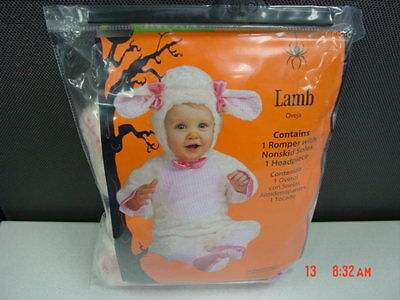 NWT Infant Girls Lamb Themed Halloween Outfit New Unused Pink