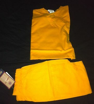 Scrubs CHILD Solid Yellow Scrub Set Pant & Top GelScrubs