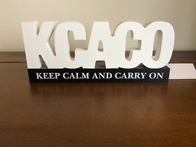 KCACO-Keep Calm-Text Speak Desktop Message Plaque Fathers/Mothers Day Gift