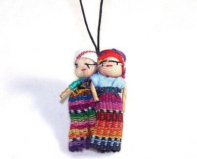 New Guatemalan Worry Doll Dolls Necklace By Mayan Artisans Fair Trade