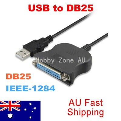 USB Male To Db25 Female IEEE-1284 Parallel Printer Adapter Connect Cable