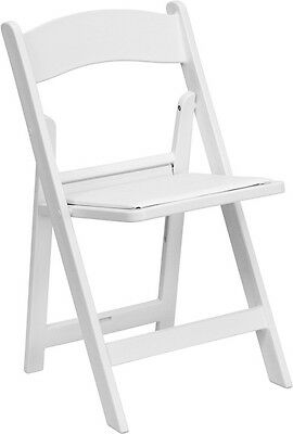 Commercial Quality White Color Resin Folding Chairs - Wedding Folding Chair