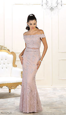 SALE ! MOTHER of the BRIDE GROOM LONG PLUS SIZE FORMAL EVENING GOWN JACKET DRESS