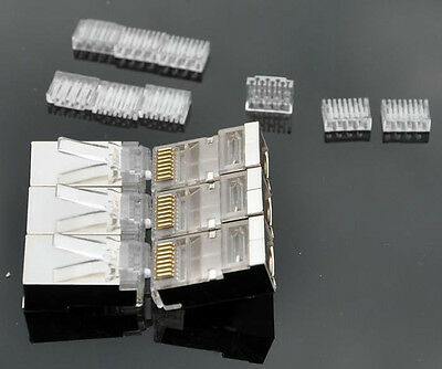 AWG-23 Cat7 Cat6A Crystals RJ45 Network Connector 8P8C with LOAD BAR 10Pack Lot