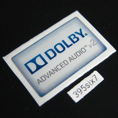 DOLBY ADVANCED AUDIO V2 Sticker 14.5mm x 24mm