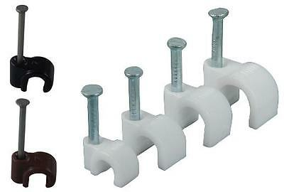 4mm 5mm 6mm 7mm 8mm And 9mm Round White And Black Cable Clips