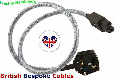 1m Quality Shielded Mains Cable MK Duraplug & Schurter IEC UK MADE fits Rega