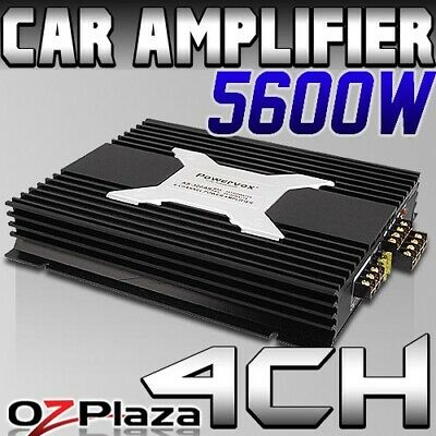 5600W PowerVox 4 Channel Car Amplifier Amp Audio Truck Black Speaker