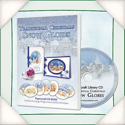 Katy Sue Flowersoft Christmas Snow Globes  Papercraft CDs/ Patterns