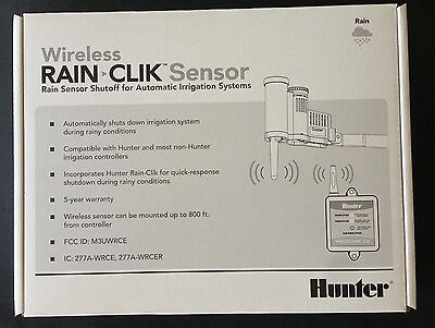WR-CLIK Hunter Rain Clik Wireless Rain Sensor for sprinkler irrigation system