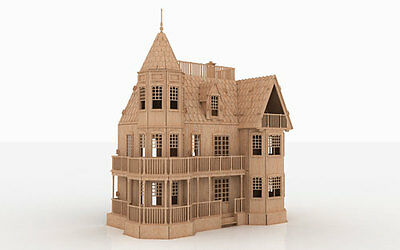 LTH 3D Puzzle Laser Plan Doll House Pattern CNC Router DXF Dollhouse ScrollSaw