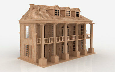SM 3D Puzzle Laser Plan Doll House Pattern CNC Router DXF Dollhouse ScrollSaw