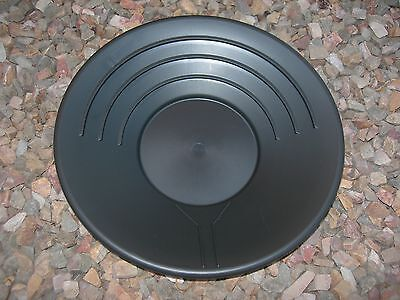 "Gold Pans Set of 2 Panning 10"" &14"" High Impact Plastic BLACK Prospecting Mining"