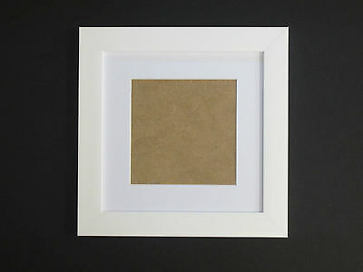 Beech Effect 7x7 Square Picture  Photo Frame  Mount 4.75x4.75 Freestanding