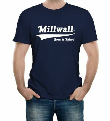 Millwall Born and Raised Retro T Shirt - Football Supporters Fan