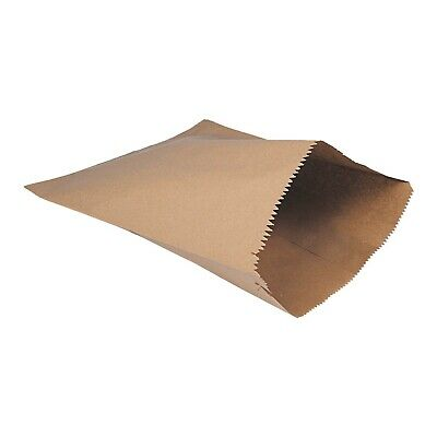 "1000 x Kraft Brown Paper Bags 10"" x 10"" Fruit Sweets Gifts Strung Bag"