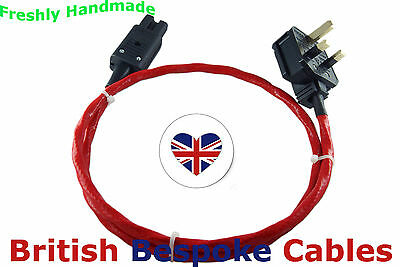 1m Belden 83803 Mains Power Cable POLISHED Plugs & Active Faraday Cage
