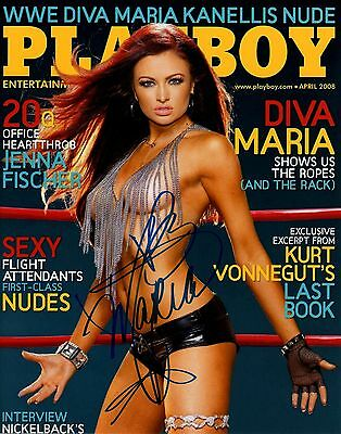 Maria Signed Autograph PLAYBOY WWE Diva 8x10 Photo