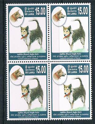 Sri Lanka 2009 Eradication of Rabies Blks 4 SG 2011 MNH