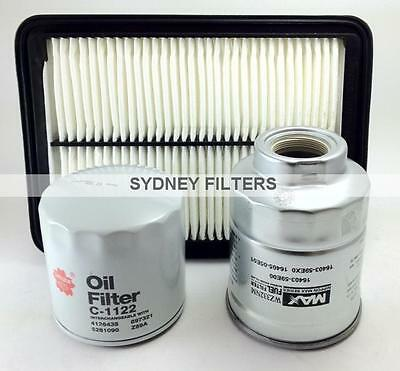 AIR OIL FUEL FILTER KIT to suit NISSAN NAVARA D40 2.5L TURBO DIESEL YD25 [THAI]