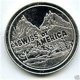 "2oz .999 SILVER BULLION COIN BAR: SwissAmerica ""RARE"""