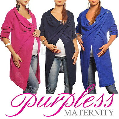 New MATERNITY CARDIGAN Pregnancy Coat Wear Size 8 10 12 14 16 18 Top 9001/5